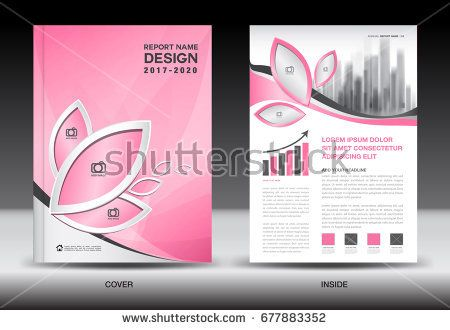 Annual Report Brochure Flyer Template Pink Cover Design Business
