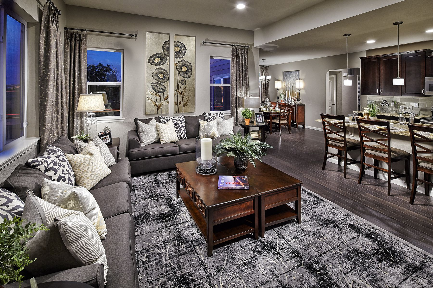 This open concept floor plan feels airy and spacious. The ...