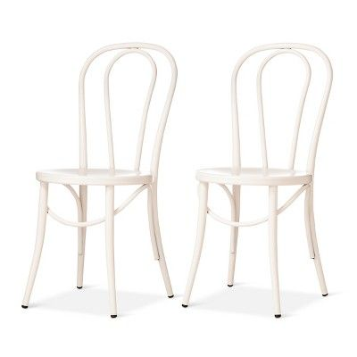 Peachy Emery Metal Bistro Chair Off White Set Of 2 Threshold Gmtry Best Dining Table And Chair Ideas Images Gmtryco