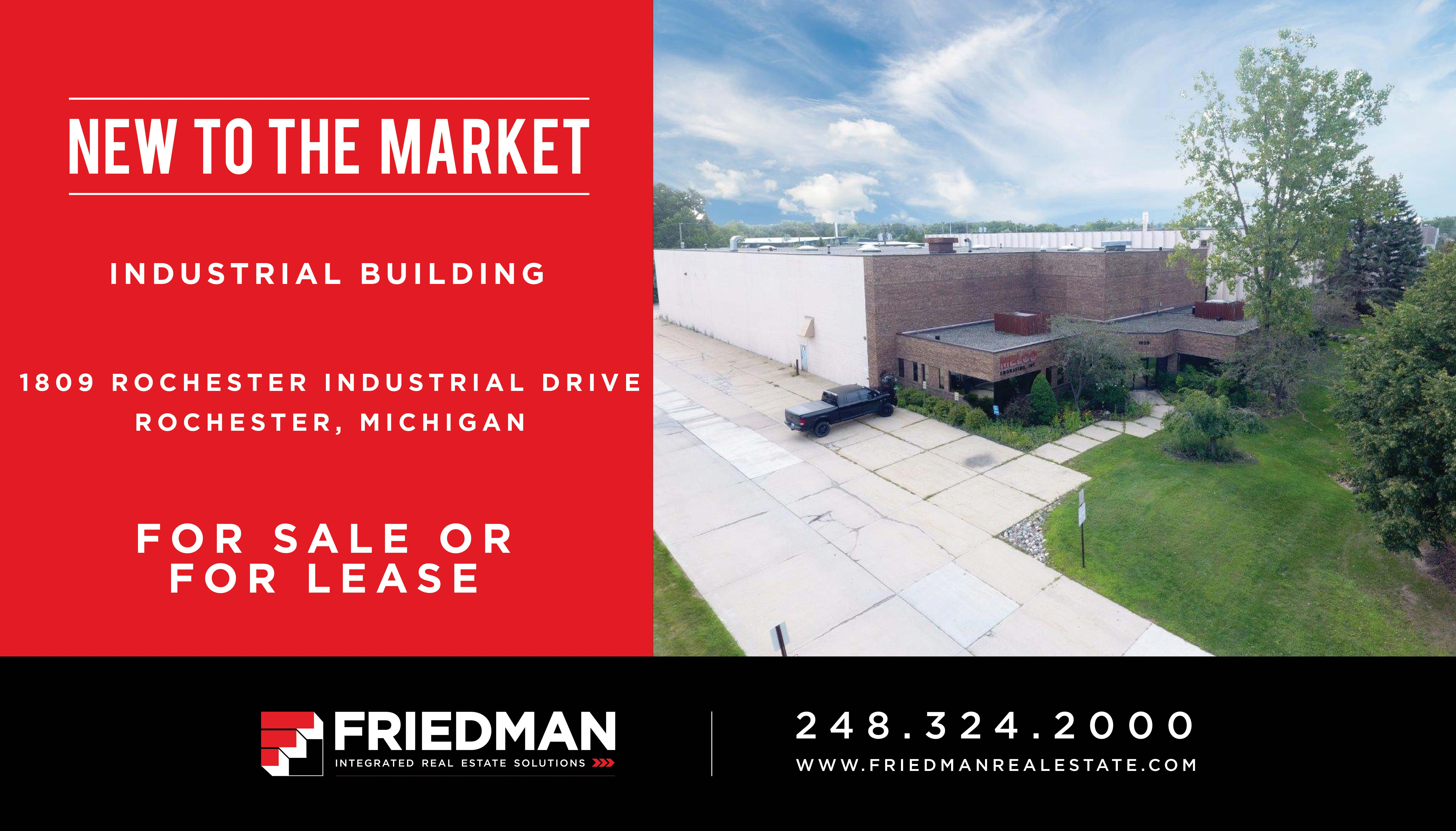 new to market for sale lease 22 709 sf single tenant industrial