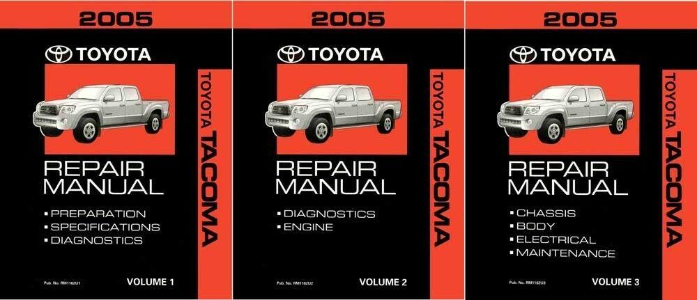 2005 Toyota Tacoma Shop Service Repair Manual Complete Set Ebay Repair Manuals Toyota Tacoma 2005 Toyota Tacoma