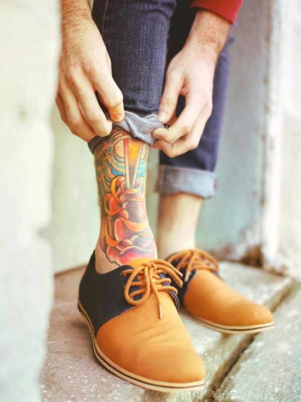 Ankle tattoos for men ideas and designs for guys ankle for Ankle tattoos for guys