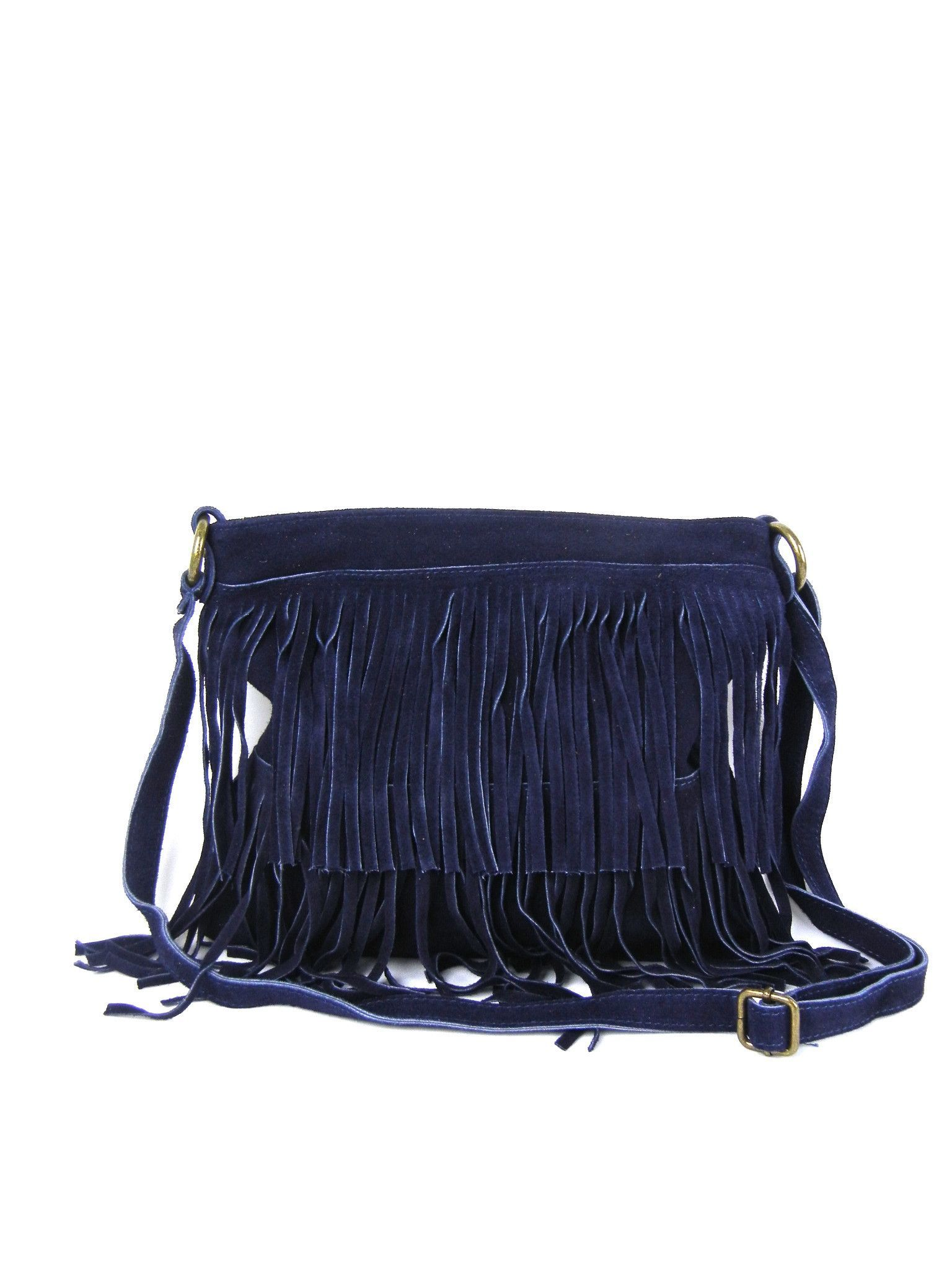 67940fc5d14 Tiered Suede Fringe Handbag Crossbody - More Colors. Find this Pin and more  on Purses ...