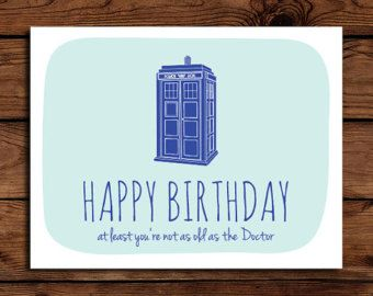Doctor who birthday card printable funny birthday card geeky doctor who birthday card printable funny birthday card geeky birthday card bookmarktalkfo Images