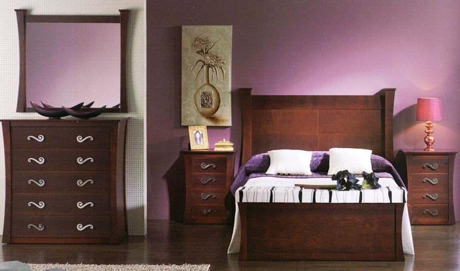 Dormitorio de matrimonio madera pino dormitorio de matrimonio madera de pino maciza y - Muebles de pino macizo ...
