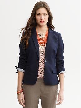 7a597c7970d Sleek suit true navy blazer