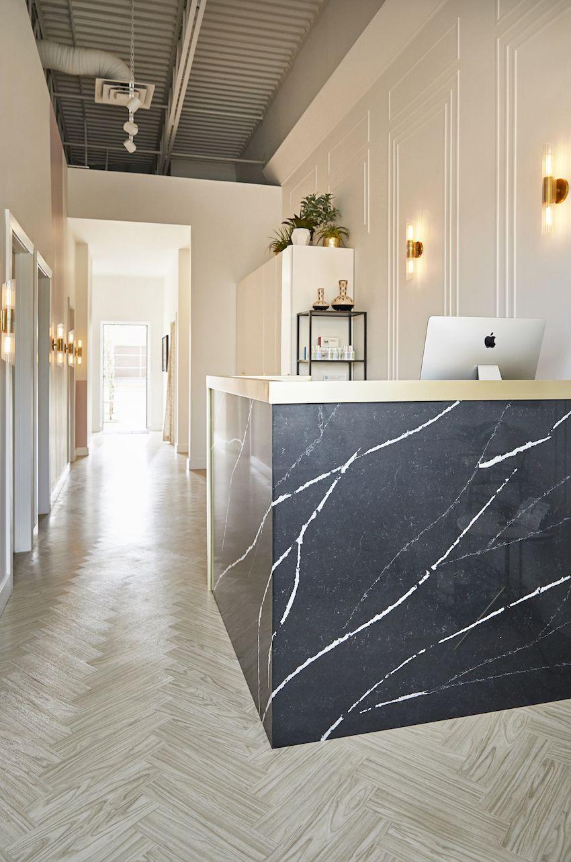Sucre A Sweet And Edgy Body Sugaring Salon In Calgary Ab Design Sponge Salon Interior Design Clinic Interior Design Salon Decor