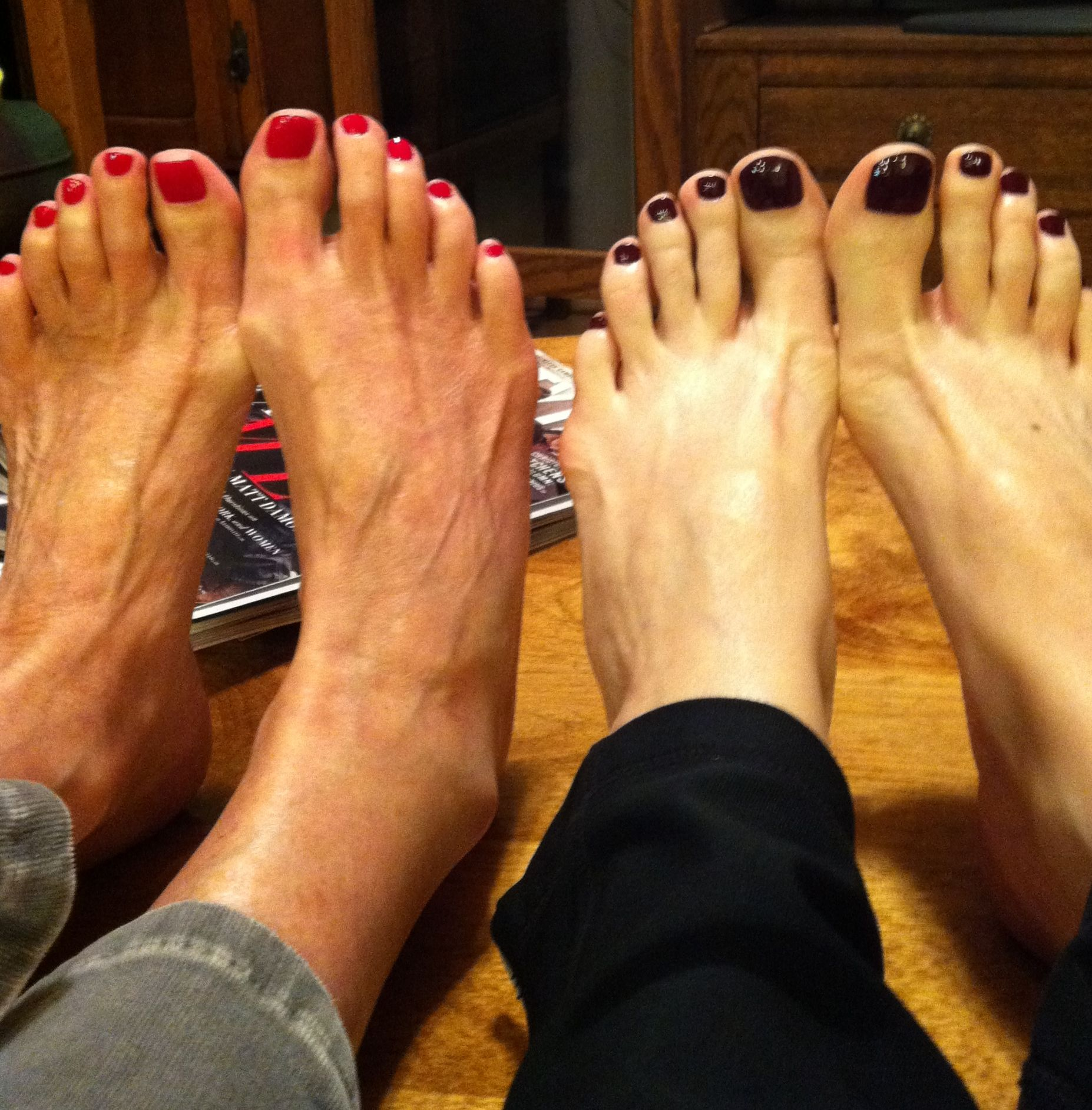 Mom and daughter pedi...pretty toes for my surgery.