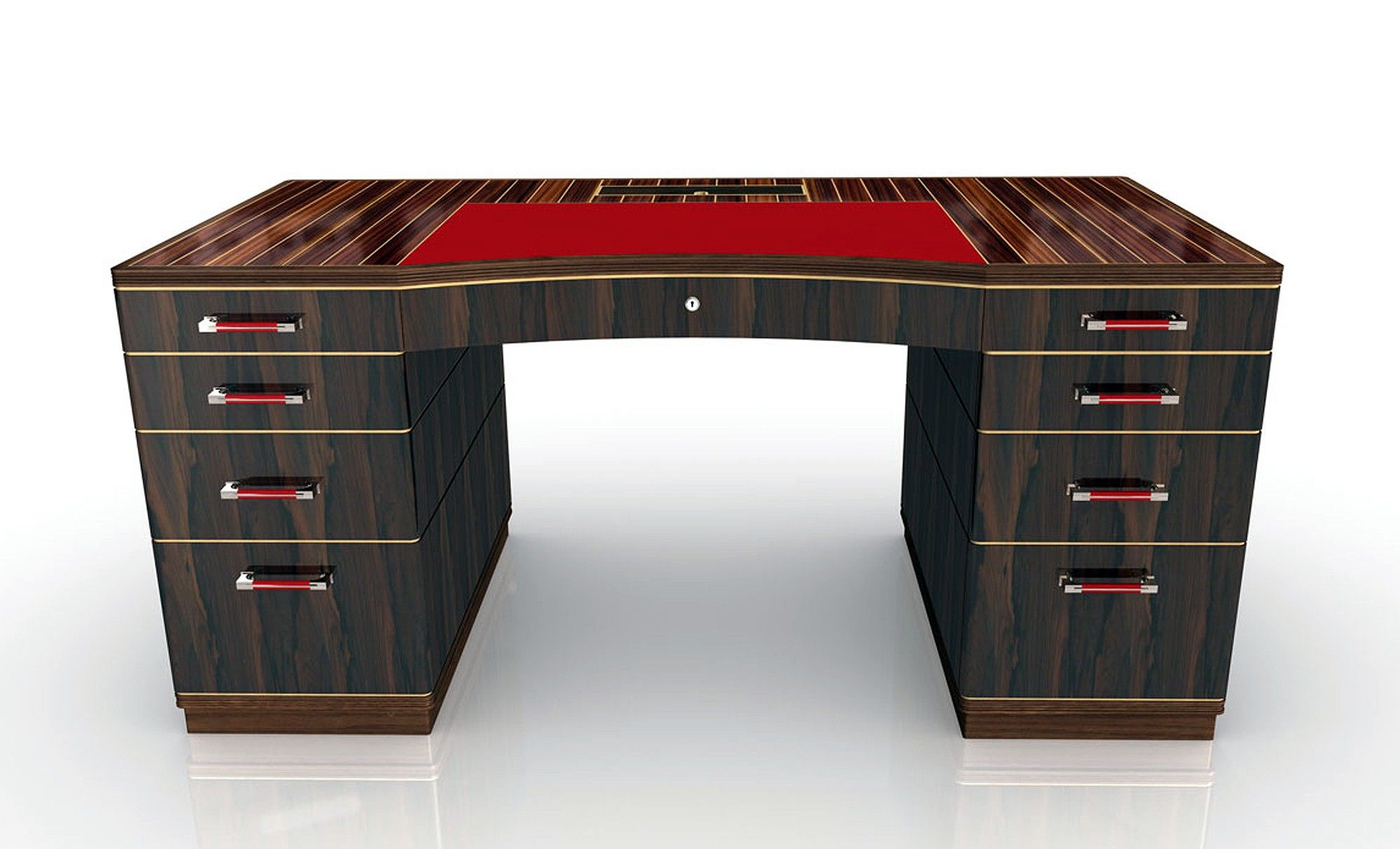 Riviera Rouge Desk With Santos Rosewood Top And Inlaid Sycamore  # Muebles Riviera