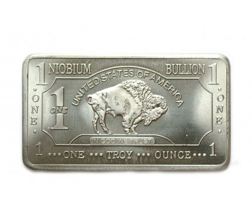 1 Oz Niobium Buffalo Bar Obverse Buffalo Bar Niobium Bullion