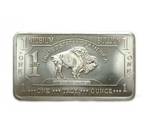 1 Oz Niobium Buffalo Bar Obverse Buffalo Bar Niobium Bullion