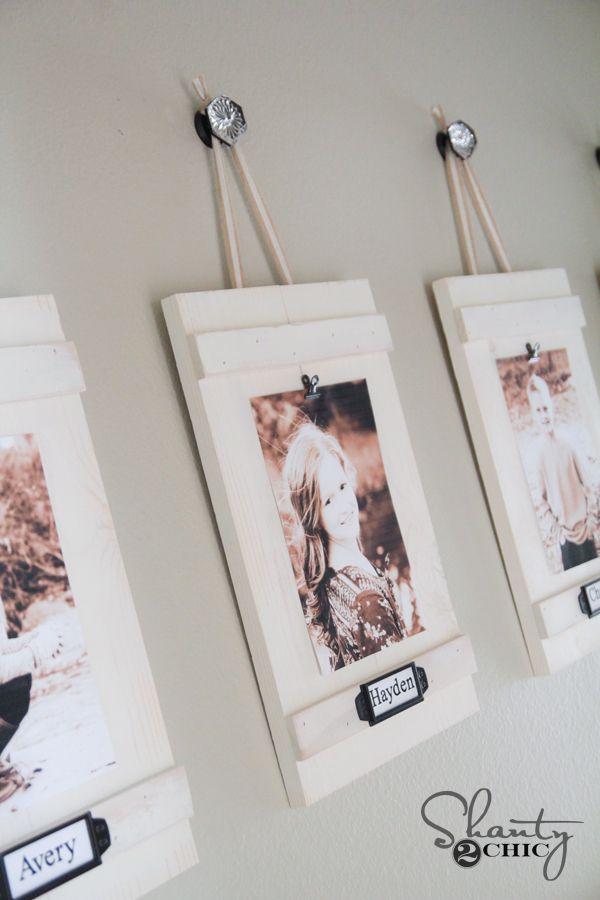 DIY Hanging Frames with Labels | Hanging frames, Diy clip frame and ...