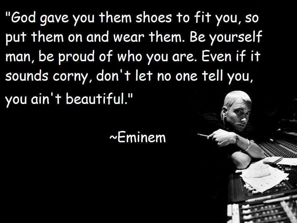 Beautiful One Eminem Quote Lyrics From Song Beautiful One Of My Favorite