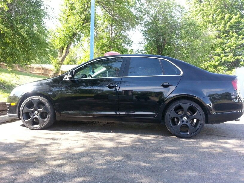 Blacked Out Jetta With Black Rims Cars Pinterest Black Rims