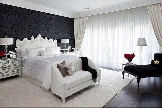 Where modern meets vintage in a cozy white and black accented ... on romantic master bedding, romantic master bathroom, romantic bathroom decorating, romantic master bedroom lighting, romantic master bedroom art, elegant bedroom decorating, romantic master bedroom windows, romantic master bedroom sets, romantic small master bedroom, romantic bedroo, romantic bedroom ideas bedroom decorating, romantic master bedroom curtains, romantic interior decorating,