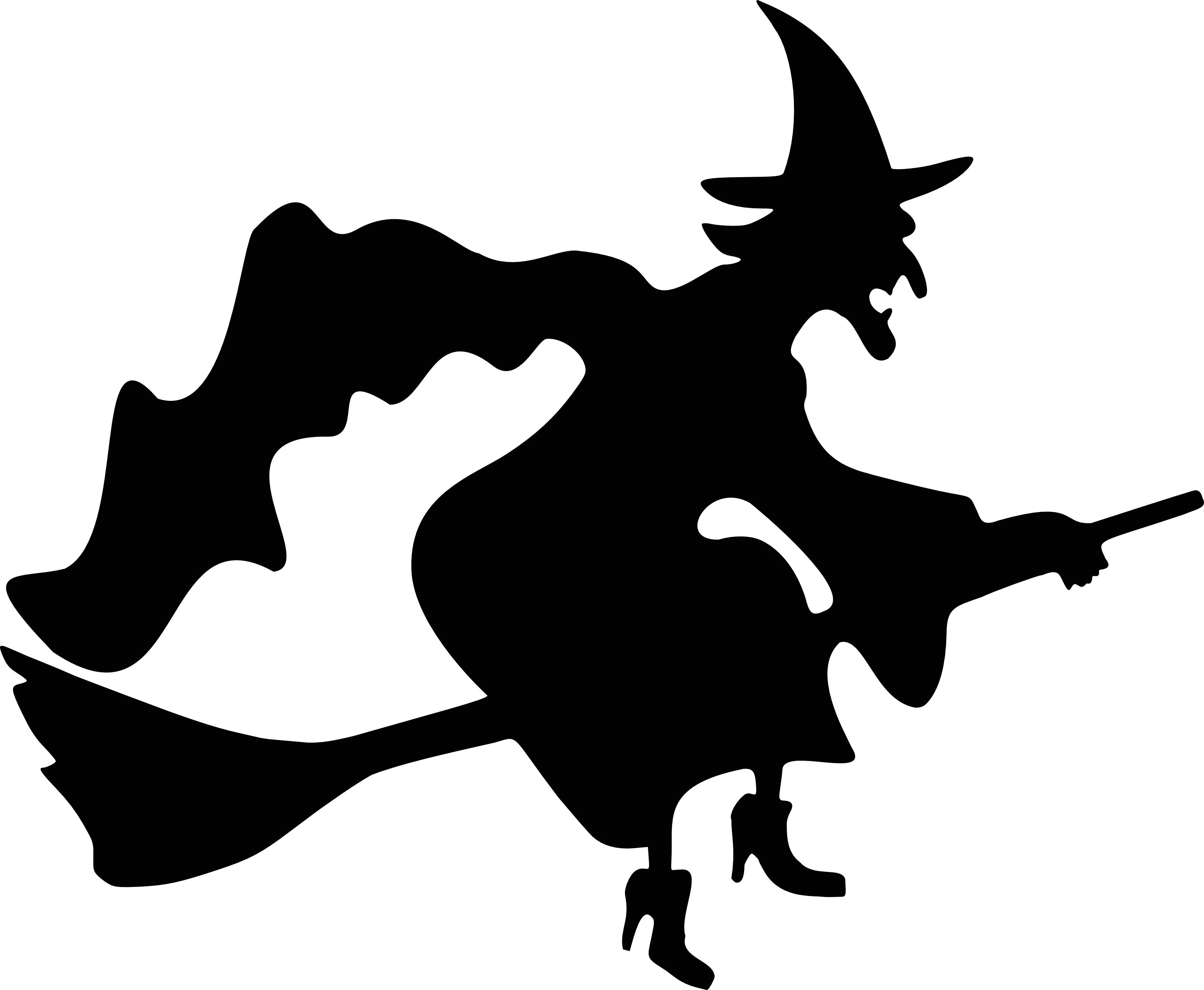this royalty free cartoon styled clip art picture is available as a fine art print and poster witch flying by crescent moon silhouette free halloween - Halloween Witch Cartoon