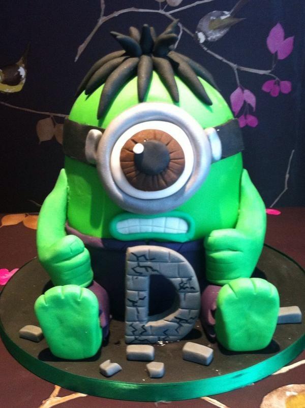 hulk minion cake Google Search Jaxs cake ideas Pinterest