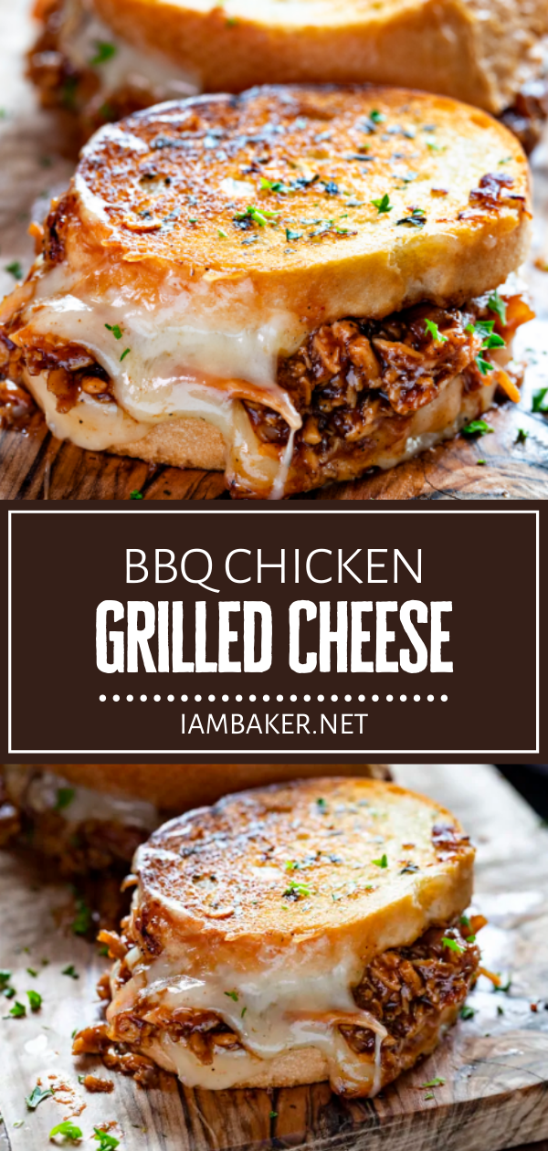 BBQ Chicken Grilled Cheese is will be a hit with the kids this summer! A flavorful french bread is pan-fried to perfection, paired with a mouthwateringly savory shredded chicken and creamy cheese. Serve with potato chips or fresh coleslaw for an impressive dinner idea!
