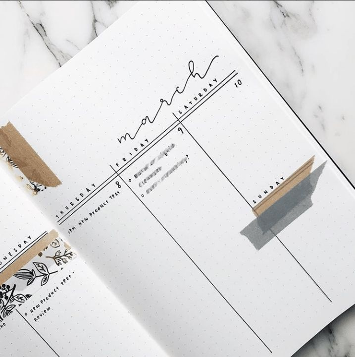 30 Of The Best Minimal Weekly Logs That You Need | ElizabethJournals