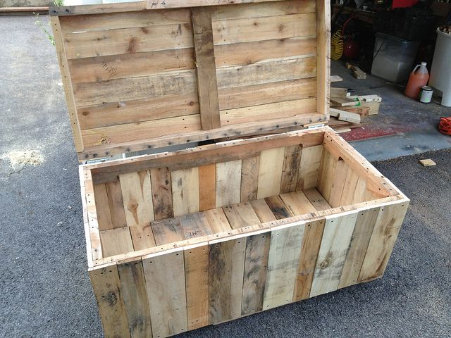 Project 6 Outdoor Toy Box Pallet Toy Boxes Toy Box Plans