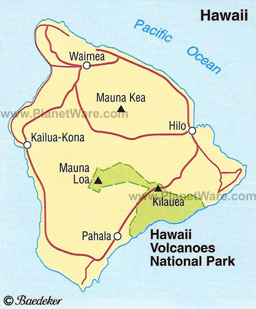 Hawaii Volcanoes National Park Maps & Legends Pinterest