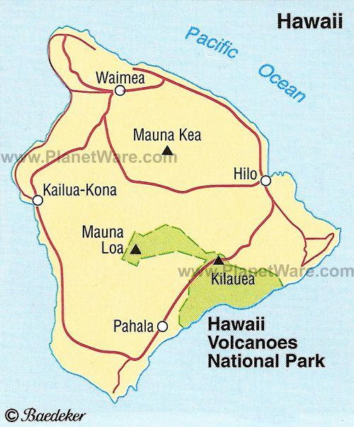 Hawaii Volcanoes National Park Maps Legends Pinterest - National parks locations map
