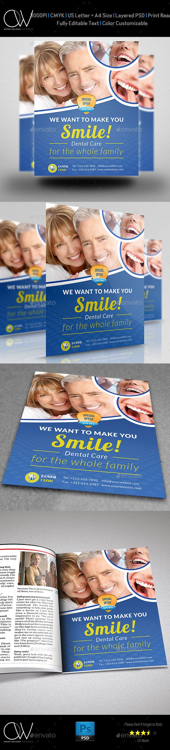Dental Clinic Flyer Template Commerce Flyers Dental