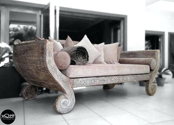Indonesian Daybed White Rustic And Antique Styled Daybed With Backing White  Including Full Set Of Cushions World Market Indonesian Daybed Reviews