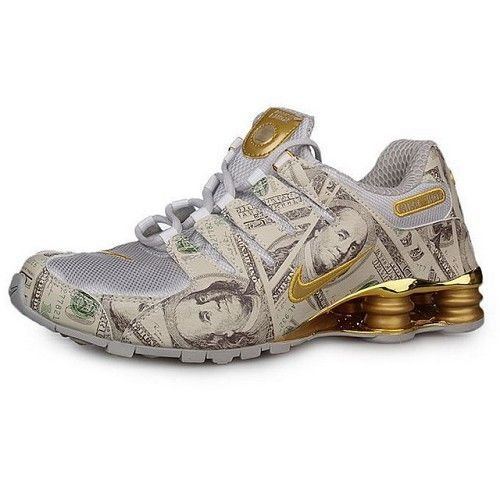 online store d424a 719f0 Nike Shox NZ Electroplating Men Dollar Grey-Golden Men Shoes 1036  58