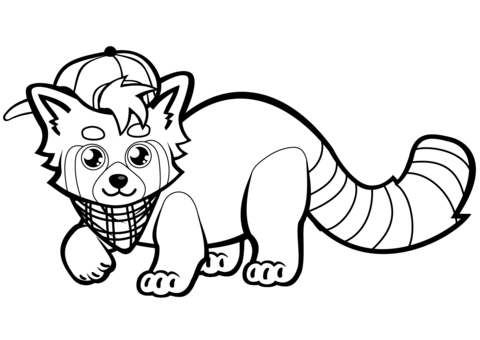 Pin By Kaiden Illyas On Drawing In 2020 Panda Coloring Pages Red Panda Cute Cute Coloring Pages