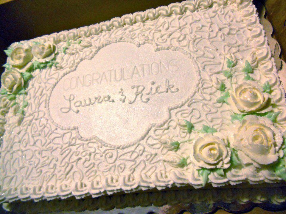 Wedding sheet cake cakes Pinterest
