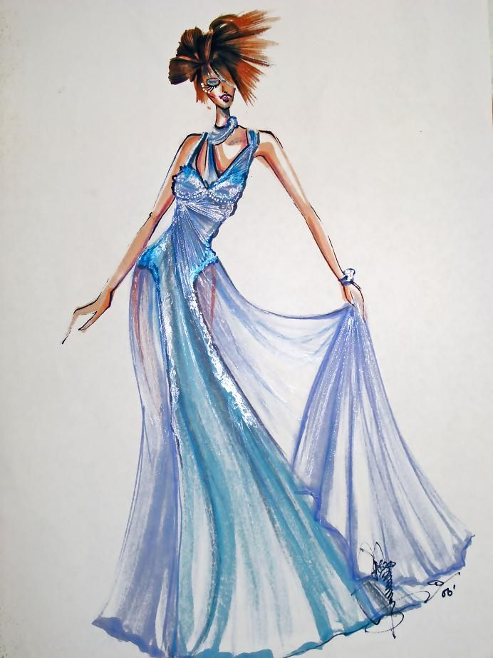 Passion Blue evening gown by AlexioLex.deviantart.com on @deviantART ...