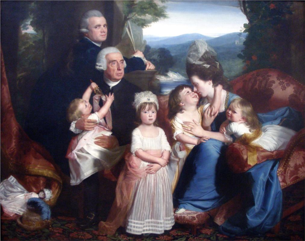 The Copley Family, Copley, 1776
