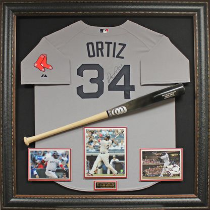 David Ortiz Signed Jersey Collage Framed  05c4ae29575