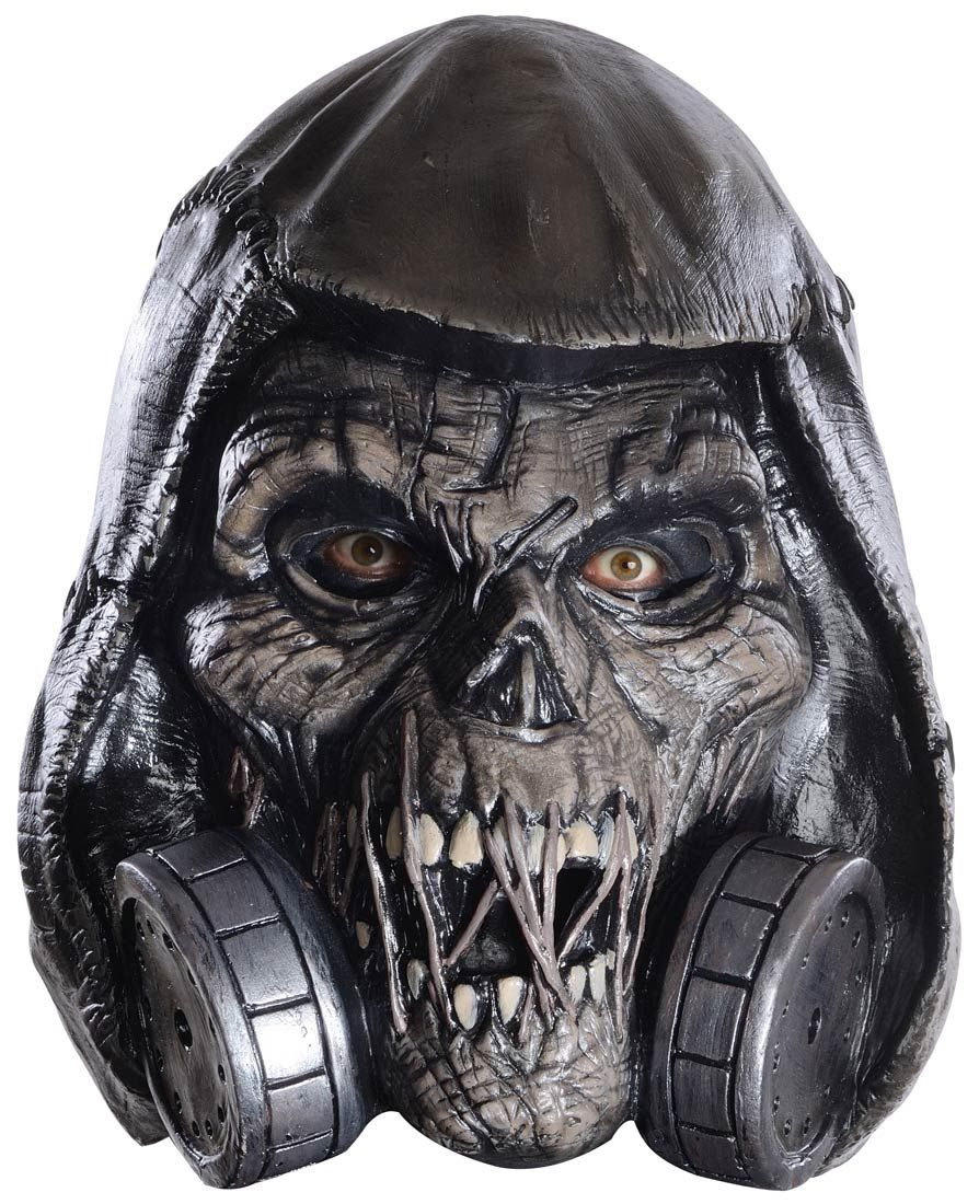 deluxe latex adult scarecrow scary halloween mask