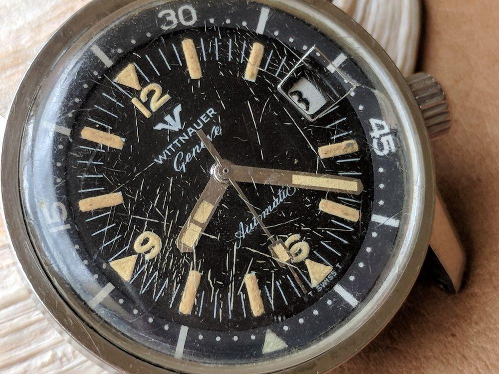 Szczegóły o Vintage Wittnauer Divers