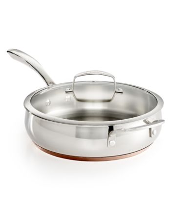 Belgique Copper Bottom 4-Qt  Saute Pan with Lid, Created for