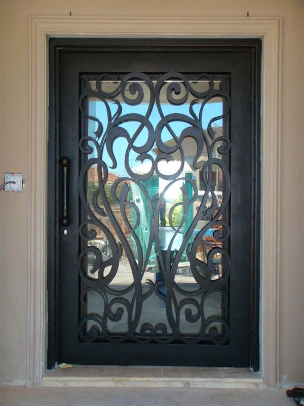 Lowes Wrought Iron Security Doors Wrought Iron Interior Door Iron