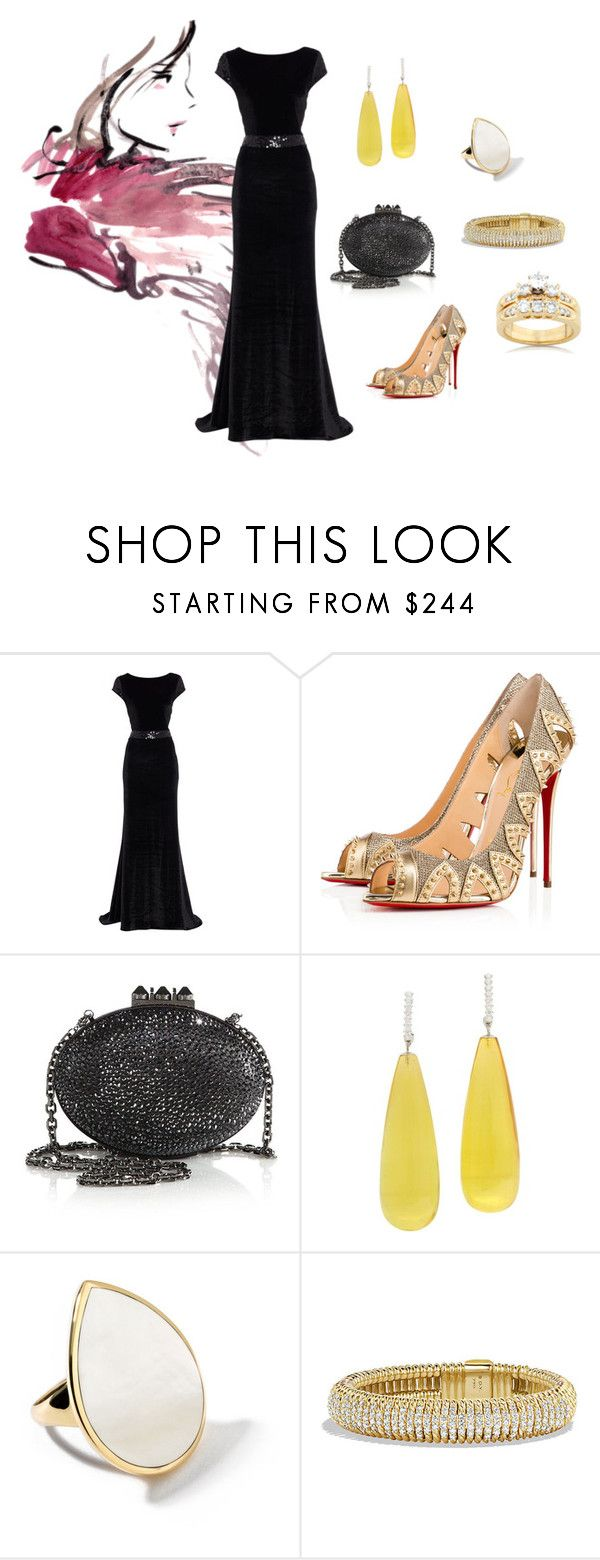 """Velvet Night"" by julay-ym ❤ liked on Polyvore featuring Christian Louboutin, Ippolita, David Yurman and Kobelli"
