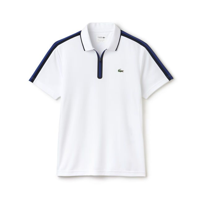 0fa6fba9d99 Lacoste SPORT Tennis zippered polo in ultra-dry piqué