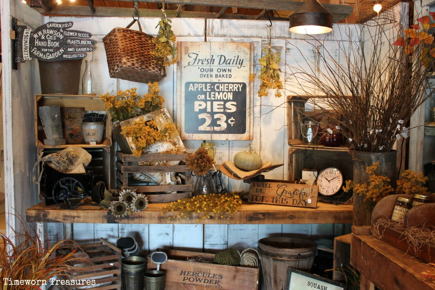 Fall display at our store. Fall decorating. Fall retail