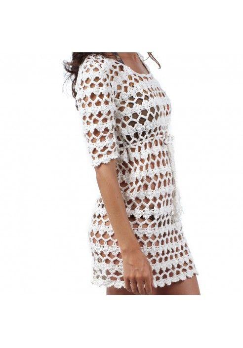 vestidos playeros a crochet patron - Buscar con Google | Diseños de ...