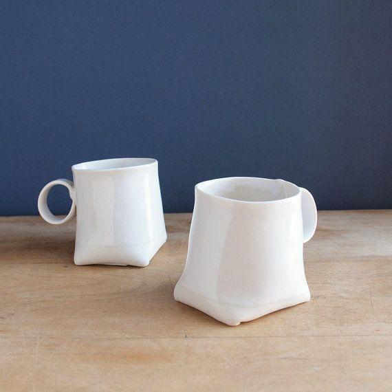 Slab Built Espresso Cups Ceramic Inspiration Form In