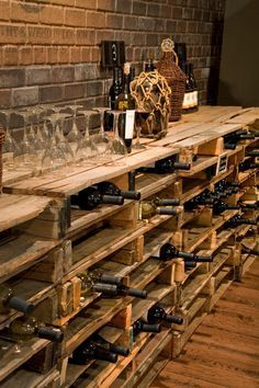 Here& #39;s #a #fun #idea #for #the #real #do-it-yourselfer! # #Line #a #wall #with #cleaned #pallets, #add #some #simple #accessories #and #let #the #collecting #begin!