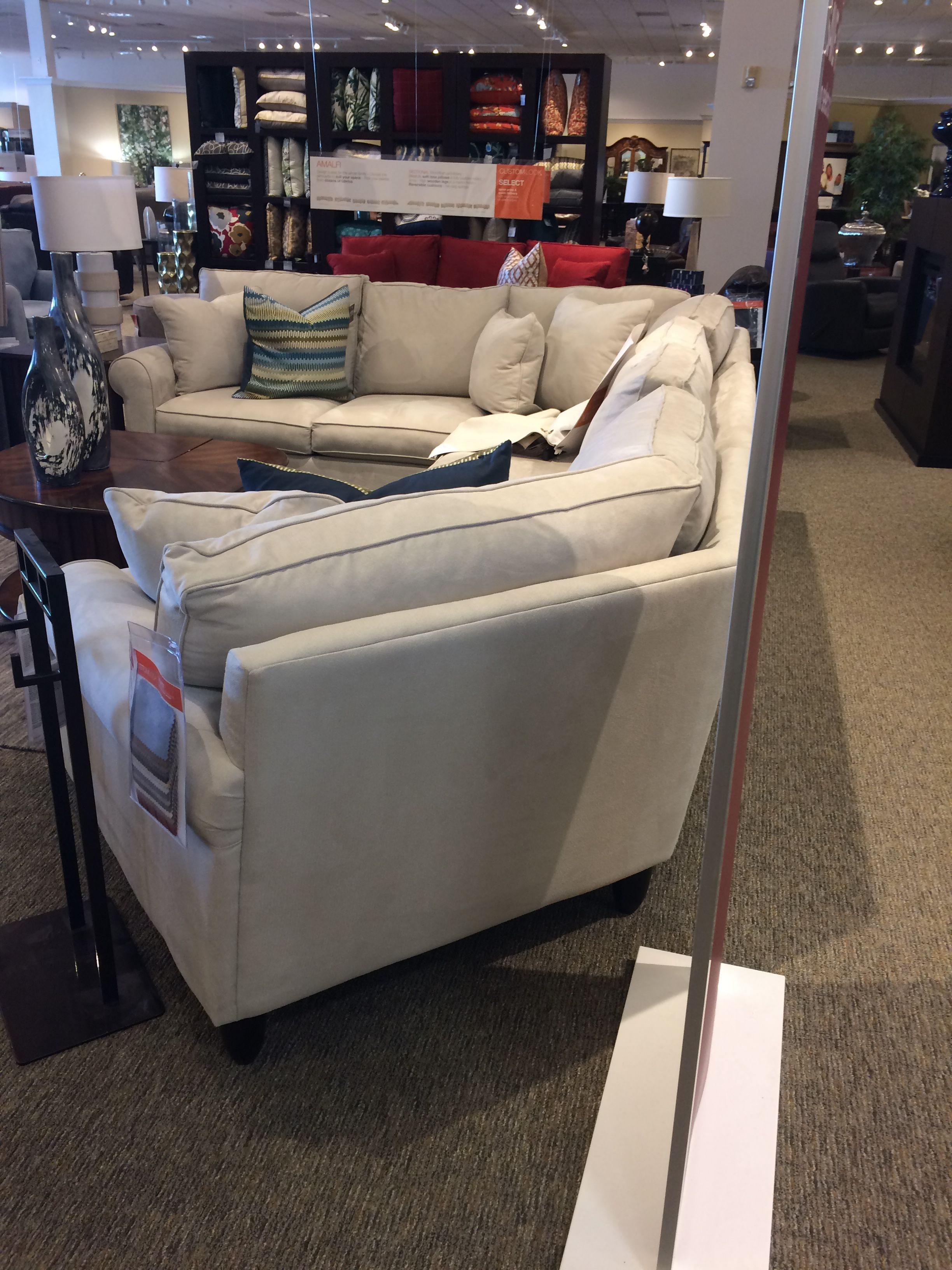 sectional couch with a cuddler chaise by jonathan louis furniture rh pinterest com
