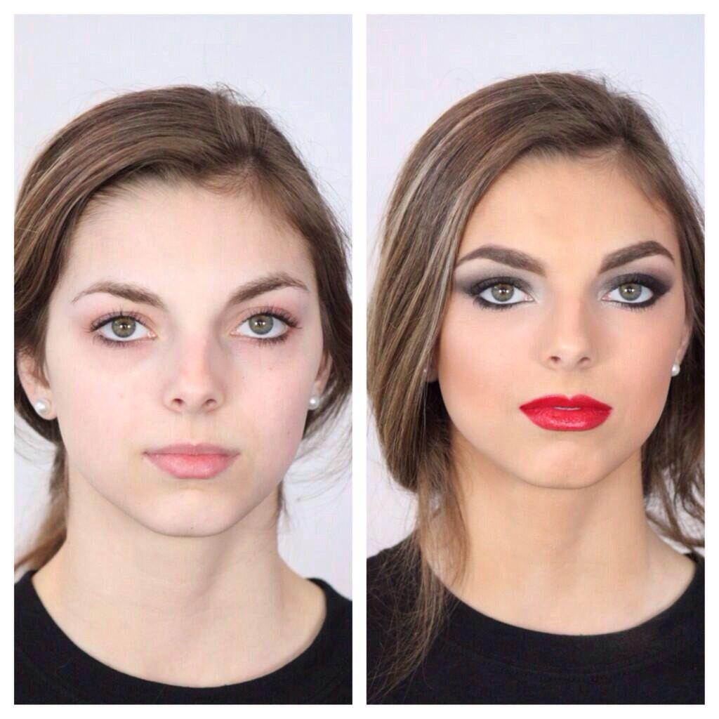 Before/After Makeup Artist: Veronica Lugo Photographer: Kelsi Kramer Model: Corrine Alioth