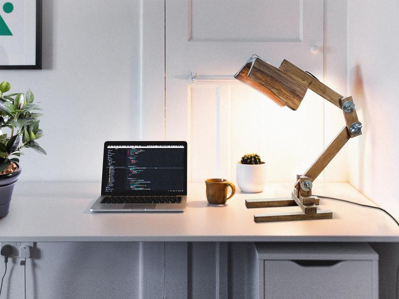 Folding Wood Lamp Led Strip Light Lamp Wood Lamp Desk Etsy Wood Lamps Led Strip Lighting Strip Lighting