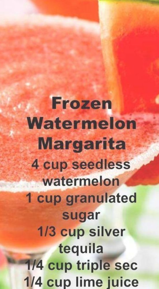 Frozen Watermelon Margarita ~ Easy to make and deliciously sweet, this drink can be made in advance and does not include ice so it will never water down! #frozenmargaritarecipes