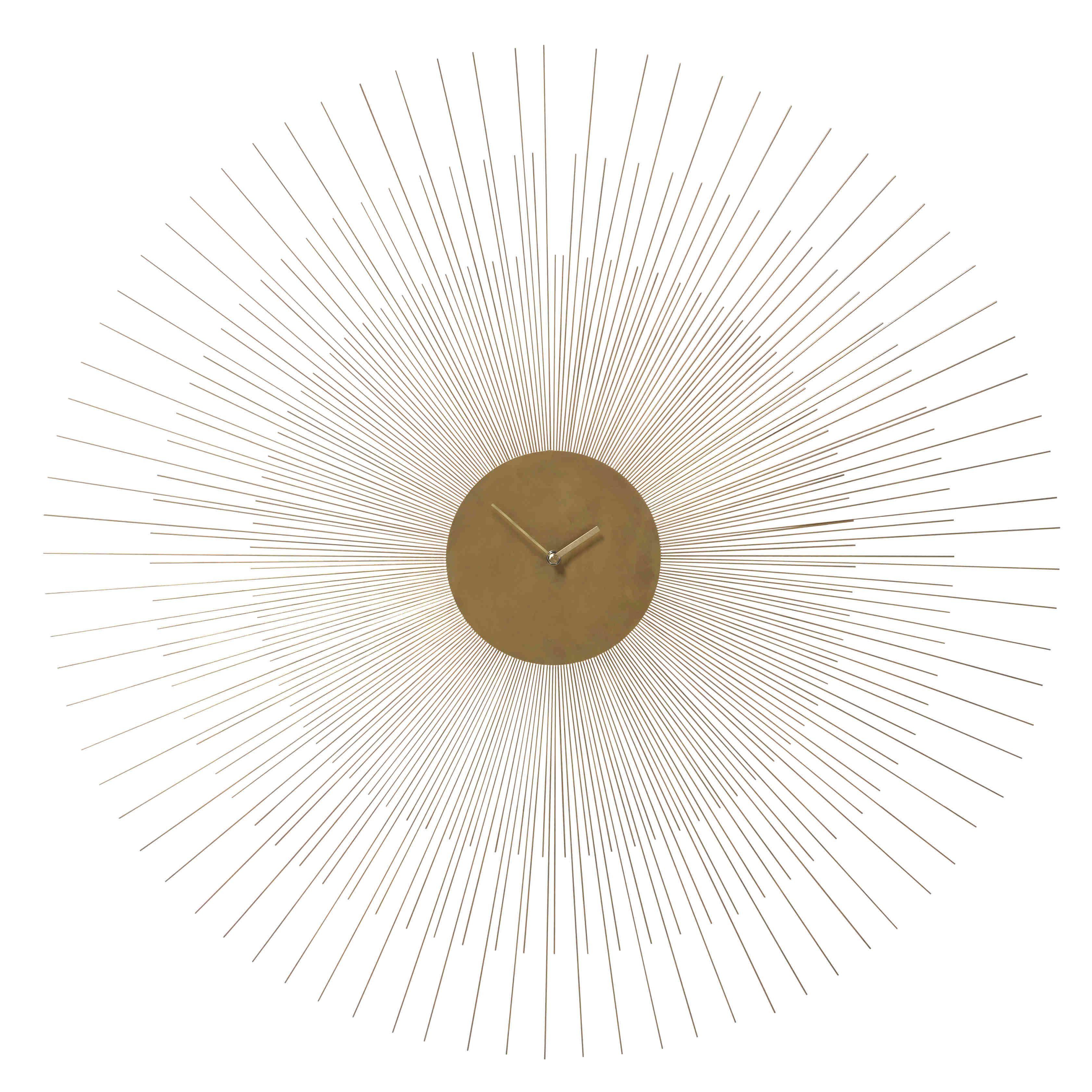 Habitat Wanduhr wanduhr callista aus metall d 95 cm goldfarben jetzt bestellen
