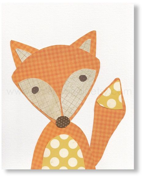 Nursery art - Fox